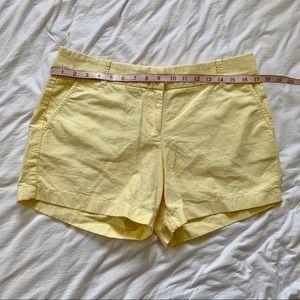 J. Crew 100% cotton chino yellow shorts 10